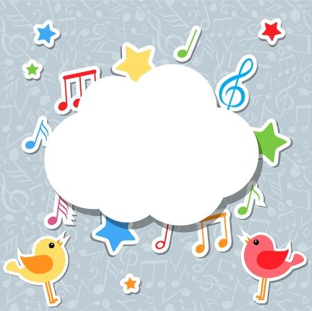 nota musical: notas de la música con bocadillo Vectores