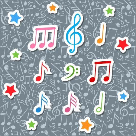 music notes Illustration