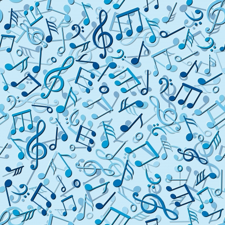 seamless pattern with music notes