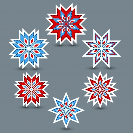 set of snowflakes Illustration