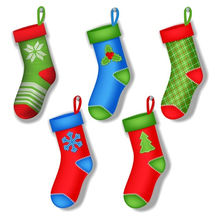 christmas socks Stock Vector - 15639430