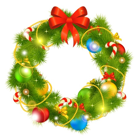 christmas wreath: christmas wreath Illustration