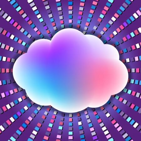 geluidsgolven: kleurrijke wolk met geluidsgolven