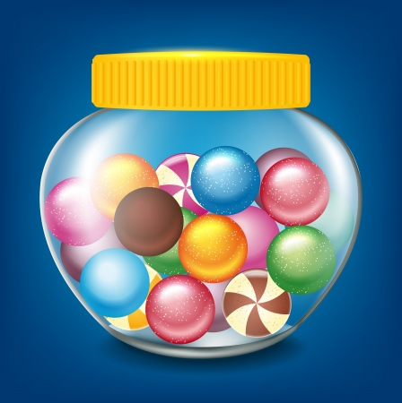 colourful candy: jar of sweets