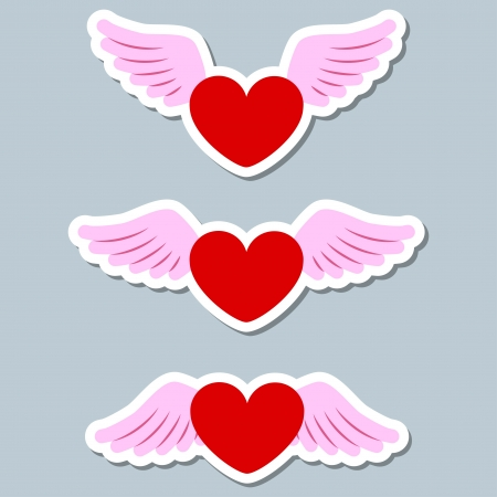 set of paper hearts Stock Vector - 17380305