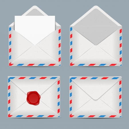 set of envelopes Stock Vector - 17380309