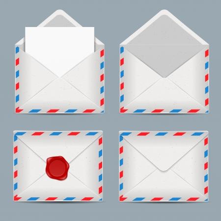 set of envelopes Stock Vector - 17380309