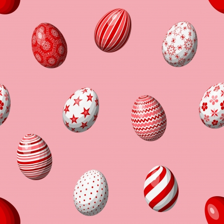 seamless pattern with easter eggs Stock Vector - 17380310