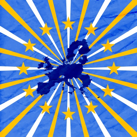 blue background with european union map Illustration