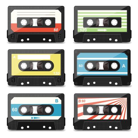 audio cassette: set of audio cassettes