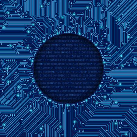 circuitos electronicos: marco de placa de circuito ronda