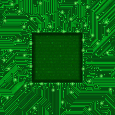 green circuit board frame Vector