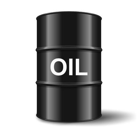 naphtha: black oil barrel on white background