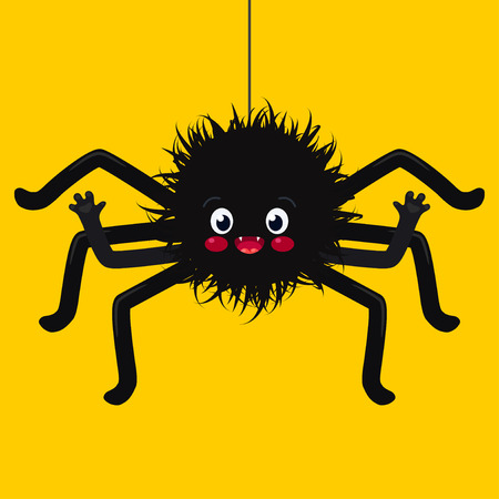 spider cartoon: illustration of cute spider