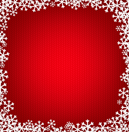 red christmas background: Red knitted Christmas background with snowflakes