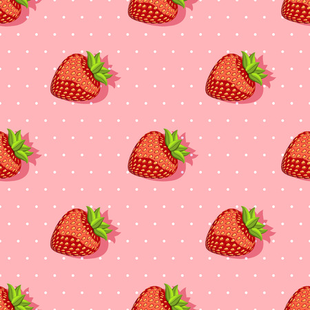 strawberry: seamless pattern with strawberries