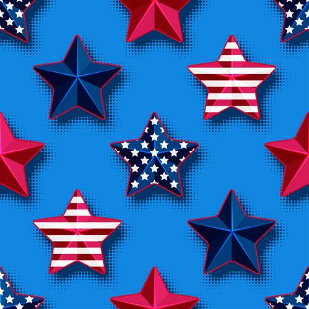 USA stars seamless pattern
