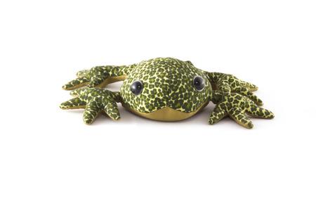 plush: green plush frog