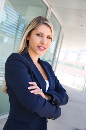 sucessful: beautiful sucessful businesswoman with folded arms