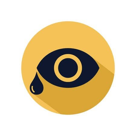 Eye tear icon vector for web, software, application, and mobile