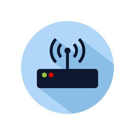 Router hotspot icon vector illustration. Router icon for web and mobile phone Archivio Fotografico - 131835671