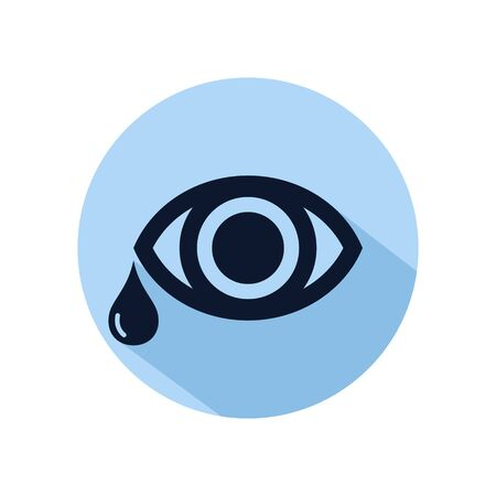 Eye tear icon line vector for web, software, application, and mobile