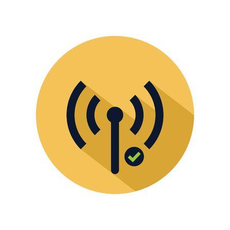 Wifi hotspot icon vector illustration. Connecting hotspot icon for web and mobile phone Archivio Fotografico - 131835773
