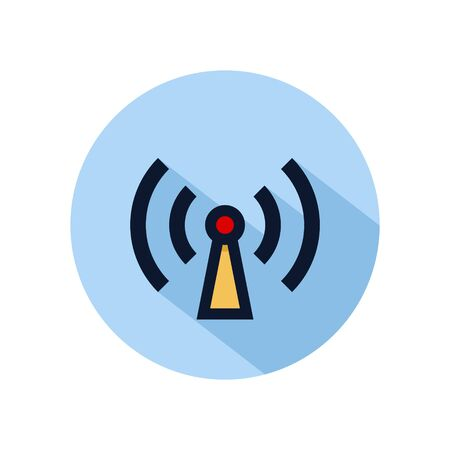Wifi hotspot icon vector illustration. Hotspot connection icon for web and mobile phone Archivio Fotografico - 131835790