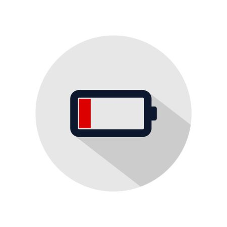 Low battery icon vector, emergency battery illustration, power battery sign Illusztráció