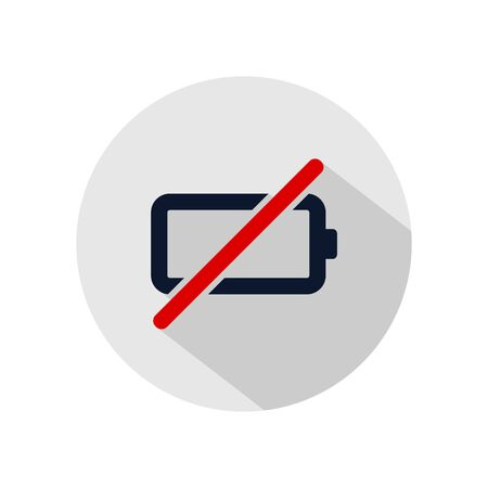 Not charging battery icon vector, Replacing your battery illustration, power battery sign