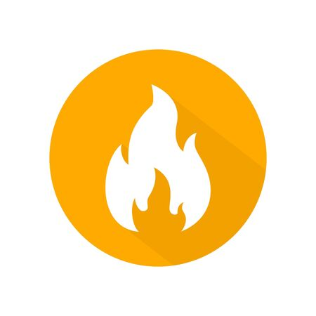Fire flame icon vector. illustration of fire isolated on circle shape, fire flame element