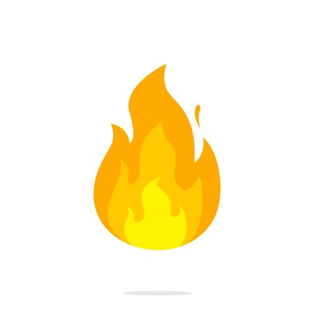 Fire flame icon vector. illustration of fire isolated on white background