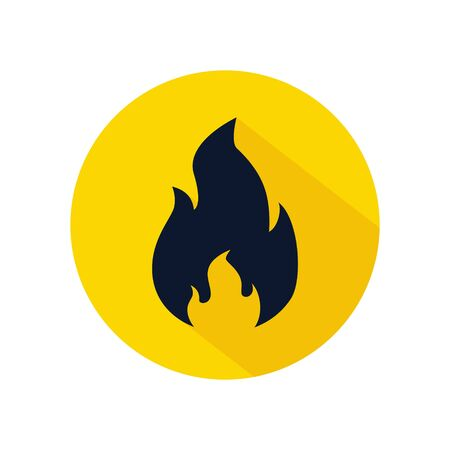 Fire flame icon vector. illustration of fire isolated, fire flame element