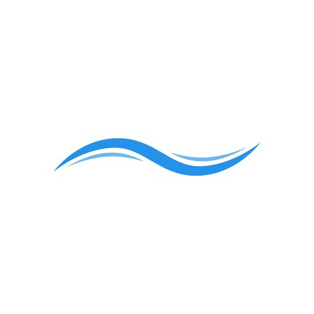 Water wave icon vector. Wave logo design template