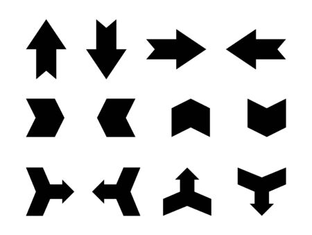 Arrows set vector. Black arrow icon isolated on white background