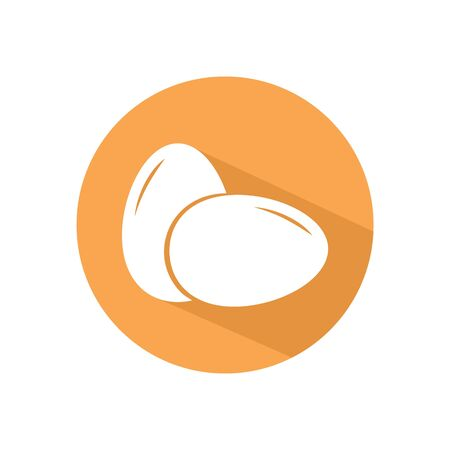 Egg icon button vector. Two eggs icon concept for web and mobile