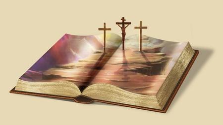 Libro de la vida. Via Dolorosa. El único camino al cielo. Foto de archivo - 77707388