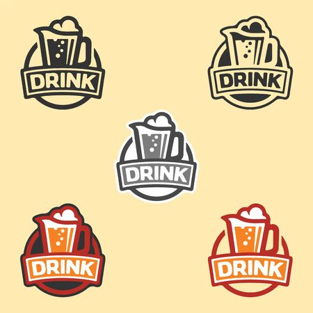 Mug craft beer. Beer house, bar, pub, brewing, brewery, tavern, taproom, alehouse, beerhouse, dramshop, restaurant, taproom, UI UX. Six icons - linear, solid, bw, color line, multicolored. Flat vector