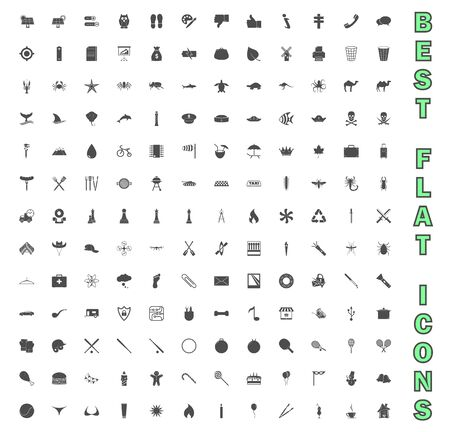 Exclusive Mega Bundle Icons Pack. Collection universal solid vector icons for website, project, business, infographic, web design, mobile app, online market. Isolated Elements on White Background.