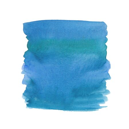 Watercolor background in different shades of blue with uneven edges on a white background
