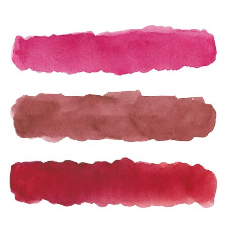 Watercolor drawing of pink stripes on white background