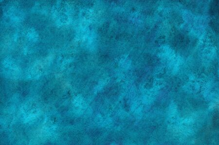 Watercolor blue background with crumpled texture Standard-Bild