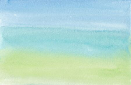 watercolor background in pastel shades with a smooth transition from blue to green Standard-Bild