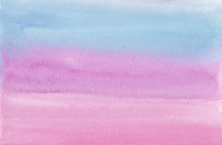 watercolor background in pastel shades with a smooth transition from blue to pink
