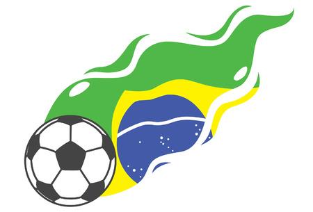 illustraton: Brazil football