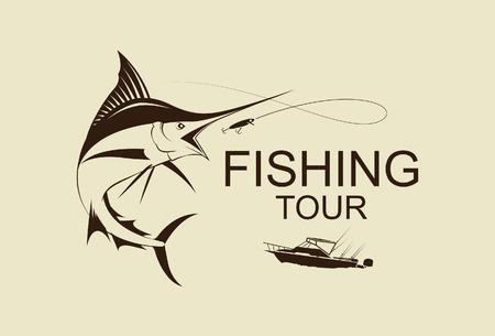 illustratie vissen marlijn symbool vetor Stock Illustratie
