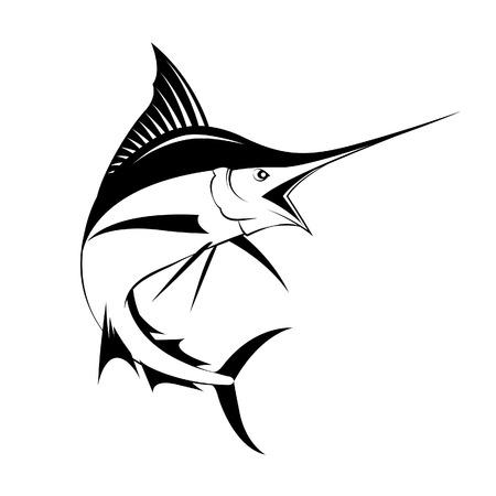 marlin fish vector Vettoriali