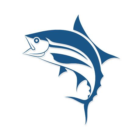 atun: peces gráfico del estilo del tatuaje, vector