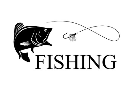 fishing bass Ilustrace