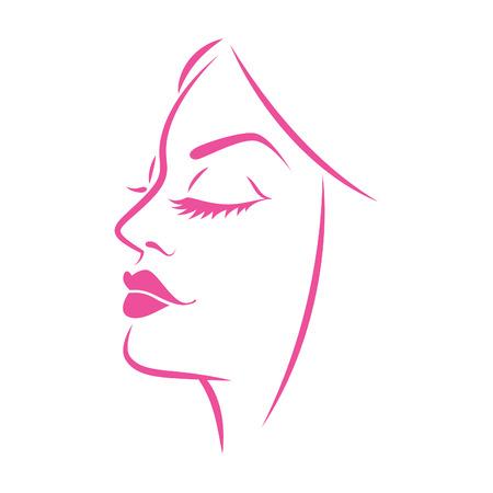 beautiful face: Graphics women face
